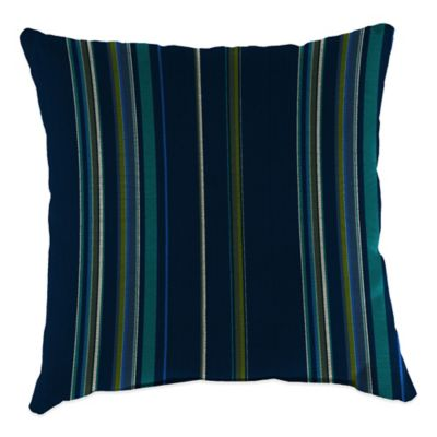 20-Inch Square Outdoor Throw Pillow in Sunbrella® Stanton Lagoon