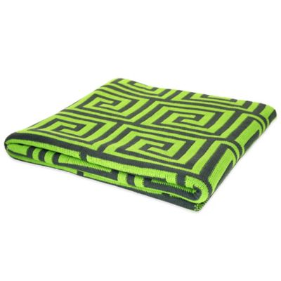 Green Knit Throws