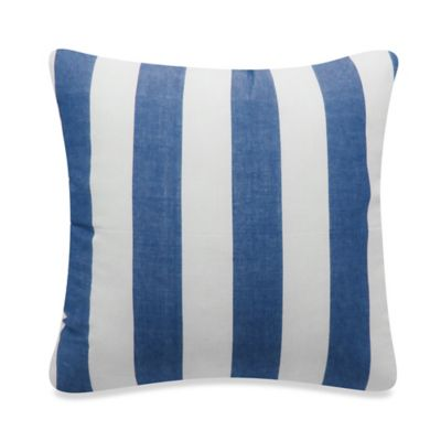 Newport Montauk Square Throw Pillow in Denim Stripe