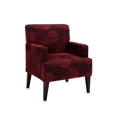 Dwell Home Tux Accent Chair in Red Sunflower