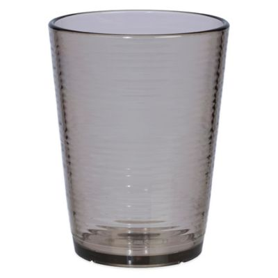 Bark Double Old Fashioned Glass in Smoky Grey
