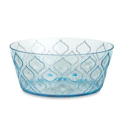 Radiance Aqua Acrylic Large Bowl