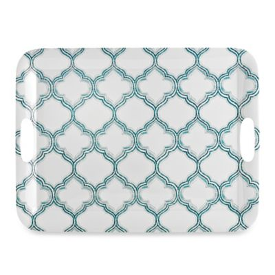 Radiance Aqua Acrylic Rectangular Serving Tray