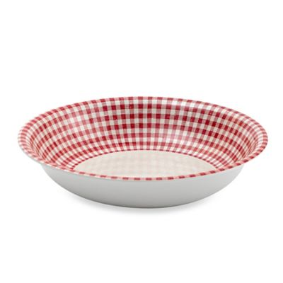 Red Cream Melamine Bowl