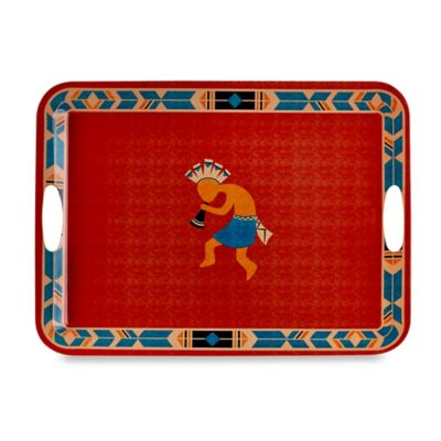 Kokkopelli Melamine Handled Serving Tray