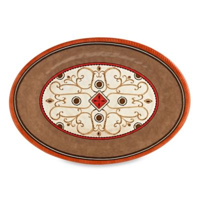 Patio Bronze Melamine Oval Serving Tray