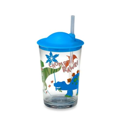 Dino Rawr Cup with Straw