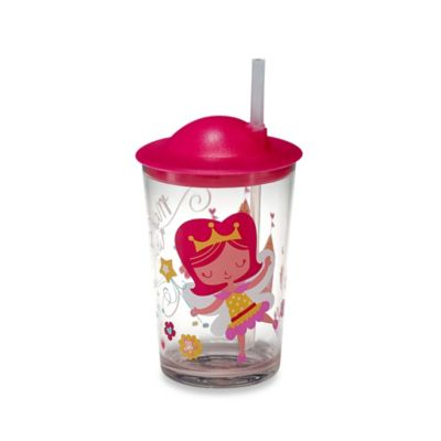 Princess Fairy Cup with Straw