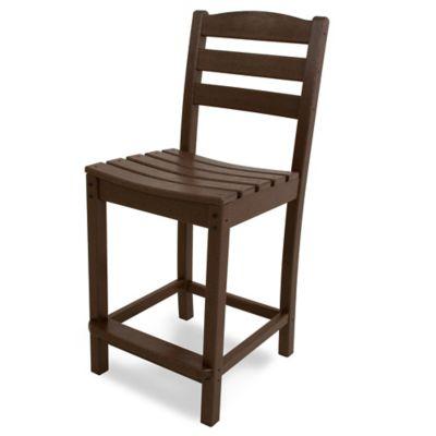 POLYWOOD® La Casa Counter Side Chair in Mahogany