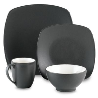 Noritake® Colorwave Quad Graphite 16-Piece Dinnerware Set