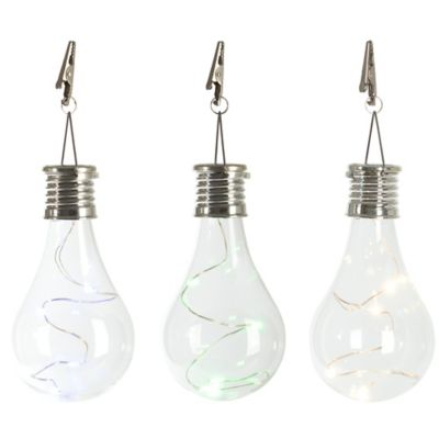 Solar Light Bulb Umbrella Clip Light in Green