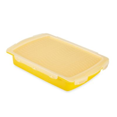 Flip & Flavor Marinade Tray in Yellow