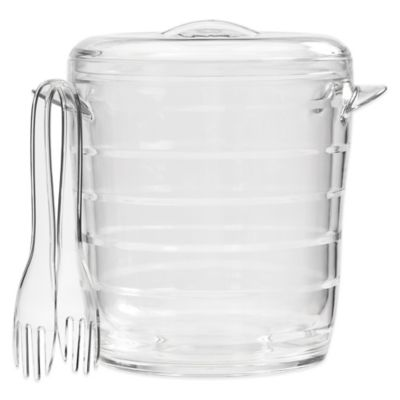 Bark Double Walled Ice Bucket in Clear