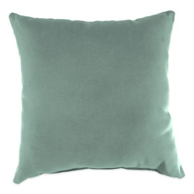 20-Inch Square Outdoor Throw Pillow in Sunbrella® Canvas Spa