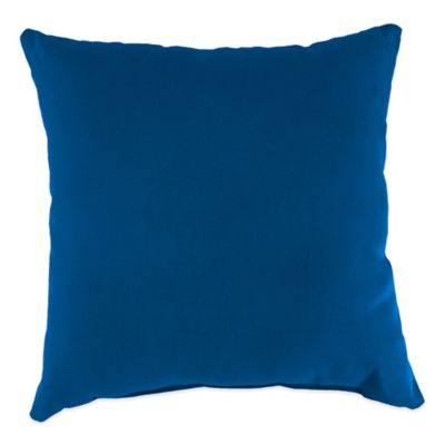 20-Inch Square Outdoor Throw Pillow in Sunbrella® Canvas Navy