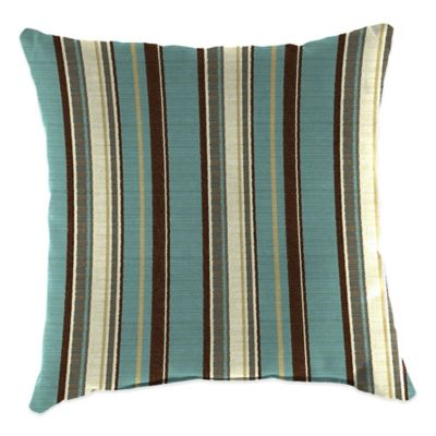 20-Inch Square Outdoor Throw Pillow in Sunbrella® Carnegie Celeste