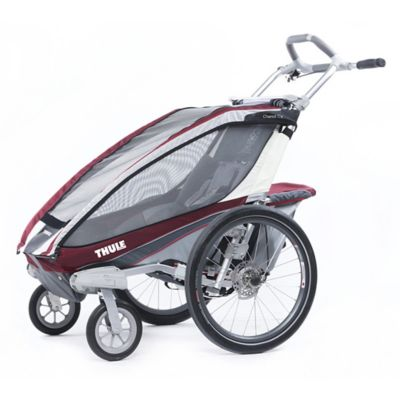 Thule Chariot CX 1 Multi-Sport Child Carrier with Strolling Kit in Burgundy