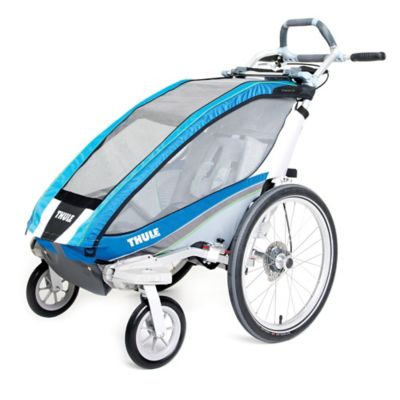 Thule Chariot CX 1 Multi-Sport Child Carrier with Strolling Kit in Blue