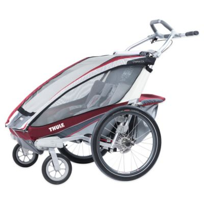 Thule® Chariot CX 2 Multi-Sport Double Child Carrier with Strolling Kit in Burgundy