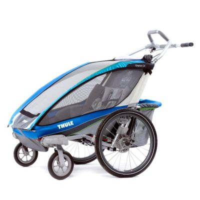 Thule® Chariot CX 2 Multi-Sport Double Child Carrier with Strolling Kit in Blue