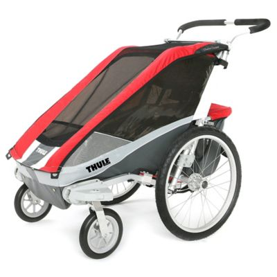Thule® Chariot Cougar 1 Multi-Sport Child Carrier with Strolling Kit in Red