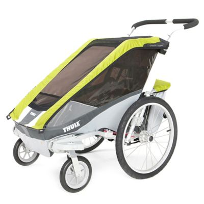 Thule® Chariot Cougar 1 Multi-Sport Child Carrier with Strolling Kit in Avocado