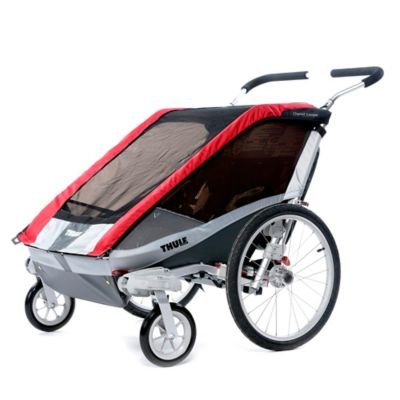 Thule Cougar 2 Multi-Sport Double Child Carrier with Strolling Kit in Red