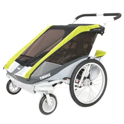 Thule® Chariot Cougar 2 Multi-Sport Double Child Carrier with Strolling Kit in Avocado