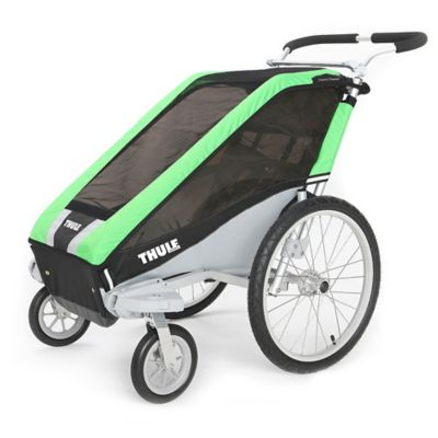 Thule® Chariot Cheetah 1 Multi-Sport Child Carrier with Strolling Kit in Green
