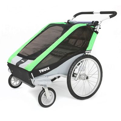 Thule® Chariot Cheetah 2 Multi-Sport Double Child Carrier with Strolling Kit in Green