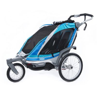Thule® Chariot Chinook 2 Multi-Sport Double Child Carrier in Aqua