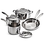 image of Tramontina® 8-Piece Tri-Ply Clad Cookware Set and Open Stock Collection