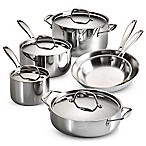 image of Tramontina® 10-Piece Tri-Ply Clad Cookware Set and Open Stock Collection