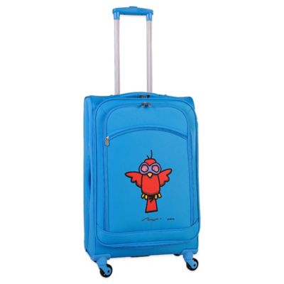 Sky Blue Checked Luggage