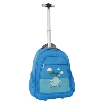 Ed Heck Big Fish 20-Inch Wheeled Backpack in Sky Blue