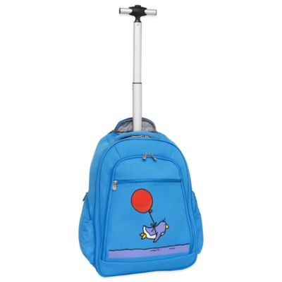 Ed Heck Flying Penguin 20-Inch Wheeled Backpack in Sky Blue