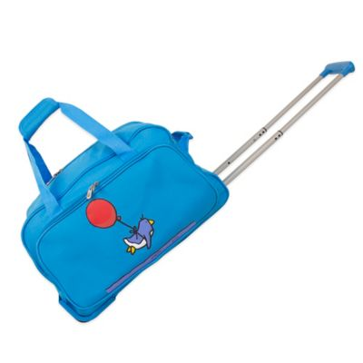Ed Heck Flying Penguin 20-Inch Wheeled Duffle in Sky Blue