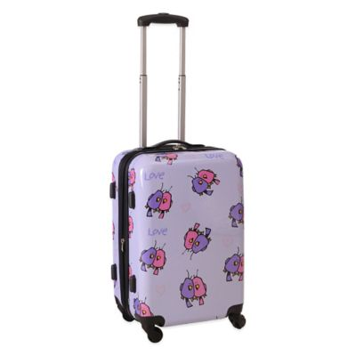 Ed Heck Multi Love Birds 21-Inch Hardside Expandable Spinner in Purple