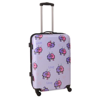 Ed Heck Multi Love Birds 25-Inch Hardside Expandable Spinner in Purple