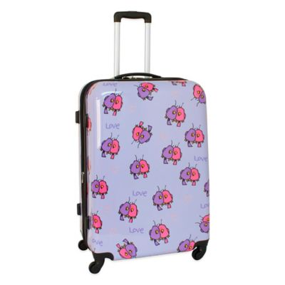 Ed Heck Multi Love Birds 28-Inch Hardside Expandable Spinner in Purple