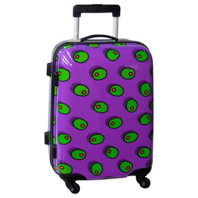 Ed Heck Olives 21-Inch Hardside Expandable Spinner in Purple