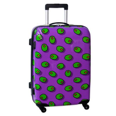 Ed Heck Olives 25-Inch Hardside Expandable Spinner in Purple