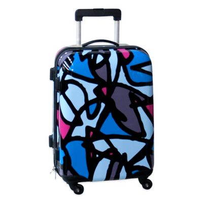 Ed Heck Scribbles 21-Inch Hardside Expandable Spinner in Blue