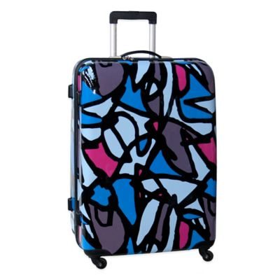 Ed Heck Scribbles 28-Inch Hardside Expandable Spinner in Blue