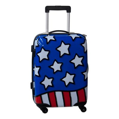 Ed Heck Stars n Stripes 21-Inch Hardside Expandable Spinner in Red/White/Blue