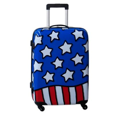 Ed Heck Stars n Stripes 25-Inch Hardside Expandable Spinner in Red/White/Blue