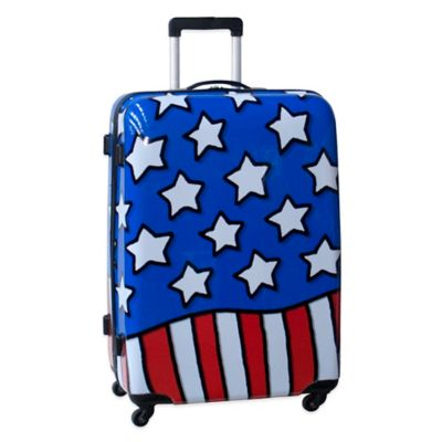 Ed Heck Stars n Stripes 28-Inch Hardside Expandable Spinner in Red/White/Blue