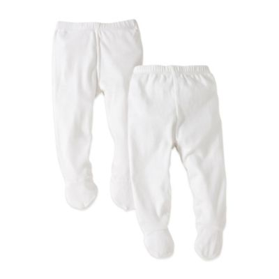 Burt's Bees Baby™ Preemie 2-Pack Organic Cotton Footed Pants in White