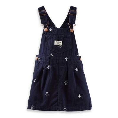 OshKosh B'gosh® Size 18M Anchor Print Skortall in Navy