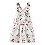 OshKosh B'gosh® Size 6M Overall Dress in White Floral